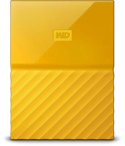 WD My Passport 2TB Portable Hard Drive and Auto Backup Software for PC, Xbox One and PlayStation 4 - Yellow