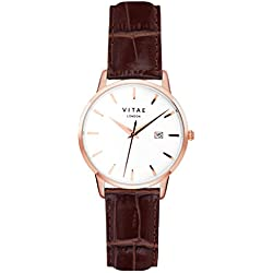 Brown/Rose Gold Kleinskool 40mm Watch by Vitae London