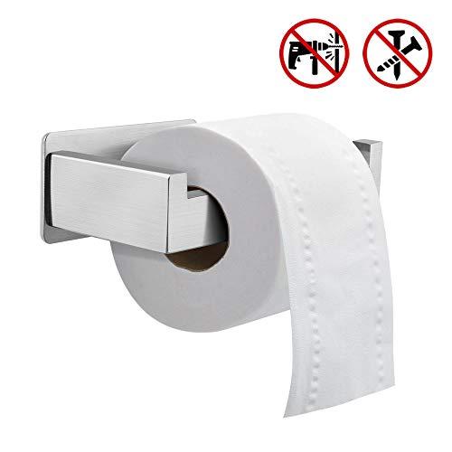 Toilettenpapierhalter ohne Bohren,Komake Klopapierhalter Selbstklebend Toilettenpapierrollenhalter Klorollenhalter Edelstahl Papierhalter WC Halter Rollenhalter Papier Halterung für Badezimmer