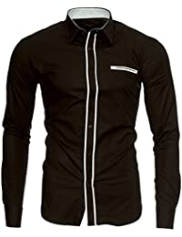 Kayhan Herren Hemd London, Braun (XL)