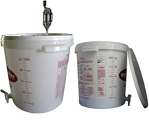 gaerbehaelter bier Gärbehälter Gäreimer 30L für Bier oder Wein mit Ablasshahn und Gärröhrchen kostenlose Lieferung