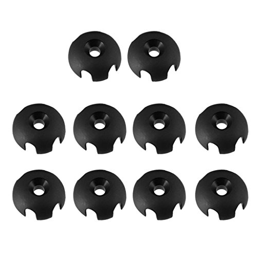Amison 10 Pieces Durable Nylon Clover Deck Line Guide Slotted Round Out Fitting Deck Sailing Rigging Canoe Kayak DIY Accessories -