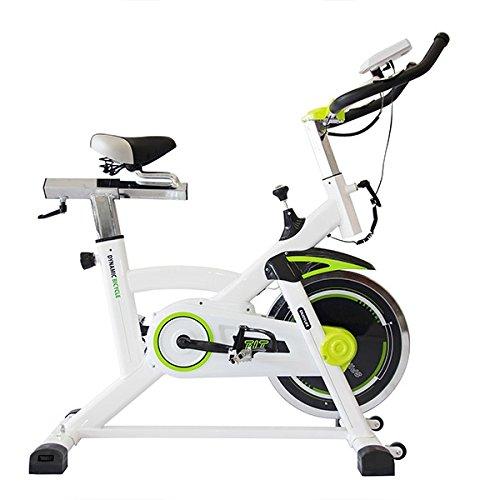 Fitness Spinning Bike 7008 Indoor Cycling Heimtrainer mit Stoßdämpfer Kettengetriebe Pulsmesser Handyhalter LCD Bildschirm 56 x 113 x 109 cm