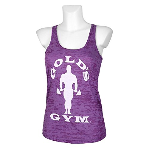 Golds Gym Damen Tank Sillhouette Burnout Purple
