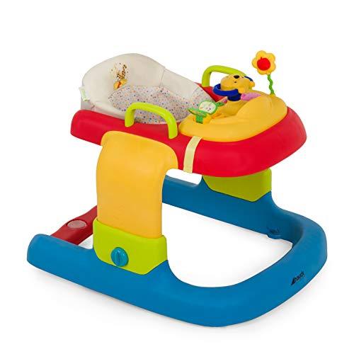 Hauck 2in1 Walker - Tacatá y andador apto para 6 meses hasta 12 kg, juego de mesa multifuncional con ruedas, juegos y asiento desmontables, con luces, regulable en altura, Friend (beige-marron)