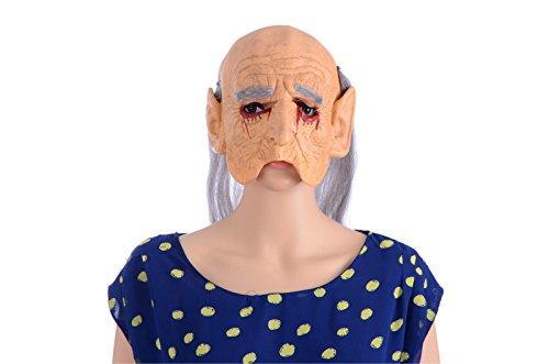 (VECDY Karneval Blutiges Horror Magical Unicorn Head Mask Scary Halloween Cosplay Kostüm Kostüm Maske Blutiges Gesicht aus)