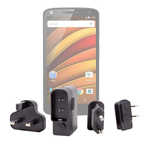 DURAGADGET Kit De Adaptadores Con Cargador Para Smartphone Motorola Moto G (3ª...