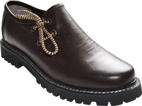 German Wear, Haferlschuhe Trachtenschuhe Original-Handmachart Glattleder, Schuhgröße:44, Farbe:Dunkelbraun
