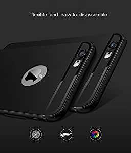 Mobiclonics COMBO OFFER(Free Data Cable) with Soft Black 0.6mm Tpu Cover for Apple Iphone6(Matt Black)