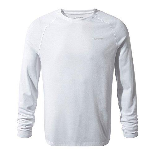 Craghoppers Da Uomo Nosilife Anello Manica Corta T Shirt Tee Top Nero Grigio Sport