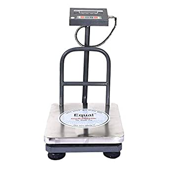 Equal Digital Weighing 'Bench' Scale, Eiws - 12, 50Kg, Ss Platform, Red Led Display
