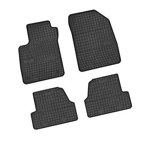 Bär-AfC OP61581 Gummimatten Auto Fußmatten Schwarz, Erhöhter Rand, Set 4-teilig, Passgenau für Modell Siehe Details