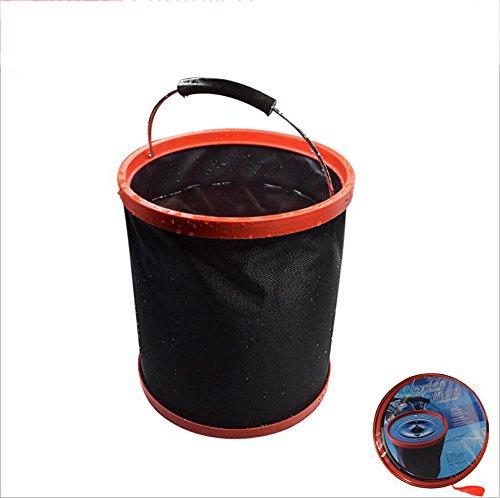 XIAOYA 12 Liter Zusammenklappbarer Faltbarer Wassereimer- Faltbarer Kübel Zum Angeln, Camping, Rucksacktour und Autowaschen - Großer Eimer mit Tragegriff