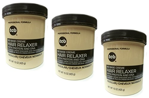 Base Creme Relaxer (3x Relaxer / Glättungscreme TCB No Base Creme Hair Relaxer REGULAR - NORMAL 425g (Insgesamt - 1275g))