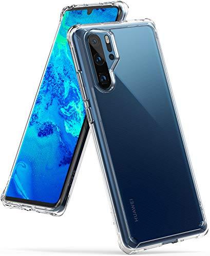 Ringke Fusion Kompatibel mit dem Huawei P30 PRO-Gehäuse, PC Retro Transparent Stoßfestes Silikon-Stoßfänger TPU erhöhte Kanten [Drahtloser Ladegerät-Halter] Huawei P30 PRO (2019) Abdeckung - Durchsichtig