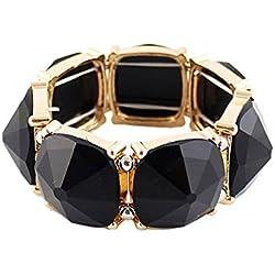 Shining Diva Fashion Black Stone Coff & Kadaa Bracelet For Girls & Women