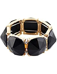 Shining Diva Fashion Black Stone Coff & Kadaa Bracelet for Girls & Women(4814b)