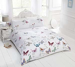 Rapport Mariposa Bettbezug-Set mit Schmetterlingsmotiv, Mehrfarbig, Kingsize