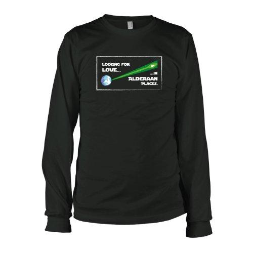 TEXLAB - Alderaan Classic Looking for Love in Alderaan Places - Langarm T-Shirt Schwarz