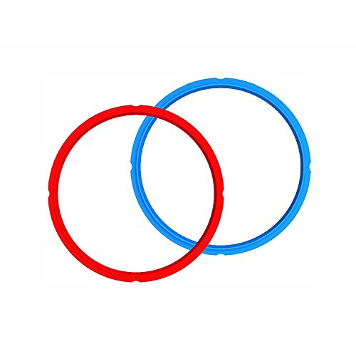 Instant Pot Sealing Ring 2 Pack 8 Quart Red/Blue