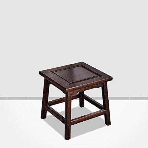 Ebenholz Chinese antiken Massivholz quadratischen Hocker, Ruhebereich Länge 28cm, Breite 28cm -