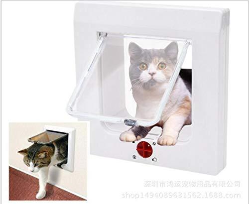 Zll Cat Flap Pet Door Puerta Grande 4 vías Bloqueo