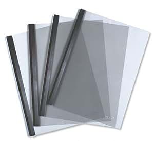 Durable 293401 Couverture Préformée + Baguette pour Reliure Manuelle 6 mm/60 feuilles Noir Lot de 100
