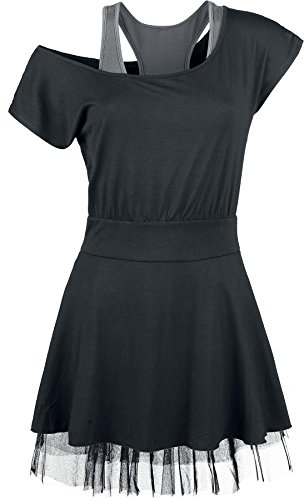 Black Premium by EMP Net Lace Dress Abito nero XS