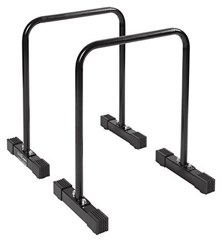 Bad Company Push Up Bar I Freistehende Dip-Station für das Ganzkörpertraining I Parallettes aus Stahl I Dips-Barren - Schwarz