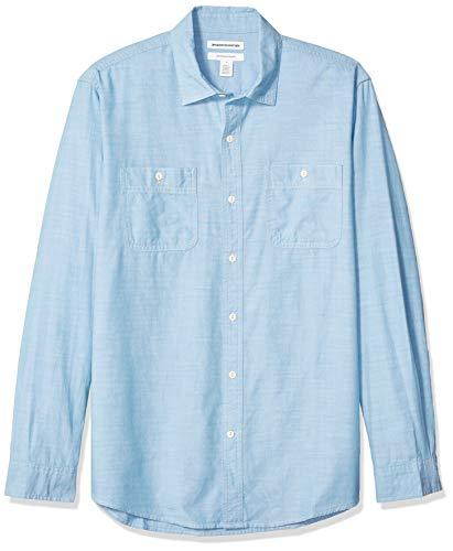 Amazon Essentials - Camisa cambray manga larga corte