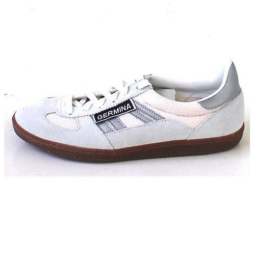 Germina Classics , Baskets pour femme Gris White/Silver White/Silver