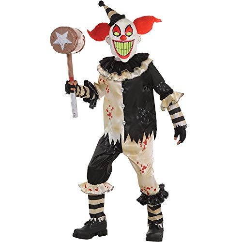 B-Creative Kids Scary Clown Kostüm Halloween Fancy Kleid Circus 6-16 Jahre Killer Amscan (14-16 Y/O)