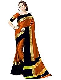 PerfectBlue Women's Cotton Silk Saree with Blouse Piece