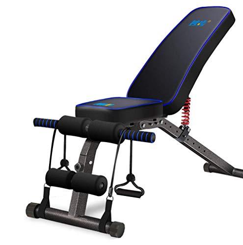 WJSWHW Verstellbare Hantelbank Bauchmuskeltrainer Crunches Maschine Bank Home Gym Training Training Training