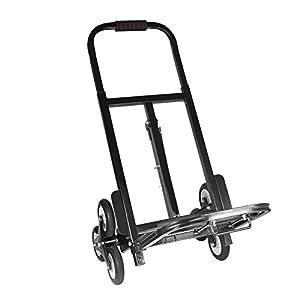 41UaY59uvDL. SS300  - Carretilla de mano, 6 ruedas Carro de transporte Carrito transportador de Transporte Multifuncional Carrito, 150kg/ 330lbs de Capacidad, Color Negro