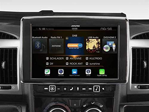 'Alpine i902d-du Fixe 9«LCD écran Tactile Noir, Argent GPS Eléments Dédiés à la Navigation Embarquée 22,9cm (9), 800x 480Pixels, LCD, AVI, MKV, MP4, AAC, Flac, MP3, WMA, 3.0+ EDR