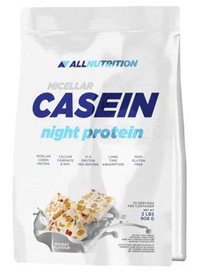 ALLNUTRITION Micellar Casein Kasein Antikataboles Langzeitprotein Protein BCAA Glutamin Proteinshake Bodybuilding 908g (White Cocolate - Weiße Schokolade)