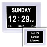 Digital Day Clock with Dual Display - ideal for people with memory loss, dementia, alzheimers and visual impairment