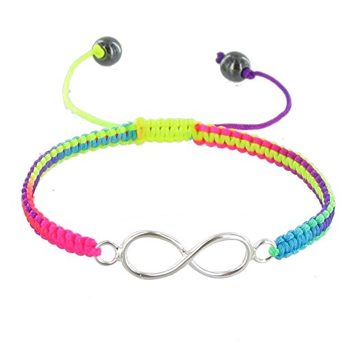 Schmuck Les Poulettes - Sterling Silber Armband Unendlichkeit Geflecht Link Neon - Classics - Multicolour