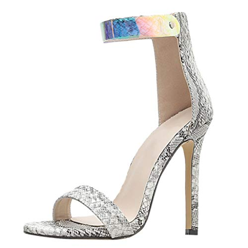 Donna Sandali, DressLksnf Elegant Estivi Sandalo Piatti Bohemian Roman Shoes in Strass Comfort Basse Tacco Basso Mid Scarpe Sera Party Shoe