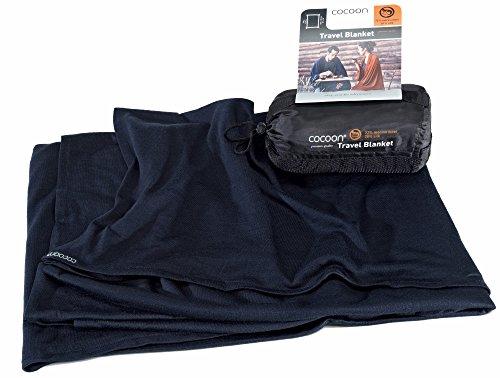 Cocoon Travel Blanket Merinowolle/Seide graphite blue