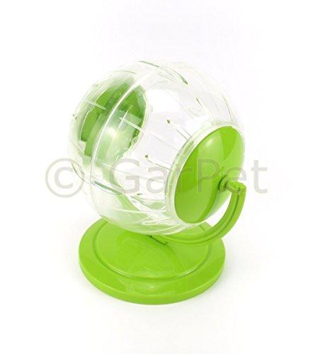 Hamsterball Ständer Joggingball Laufball Laufkugel Laufrad Hamster Ball Kugel (Klein, grün)