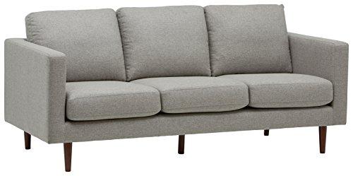 Rivet Revolve Modernes Sofabett, B 203cm, Grau gewebt