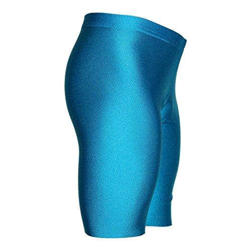 Turnhose 1/2 Leggings aus Lycra mit Glanzeffekt Farbe türkis, Größe 128