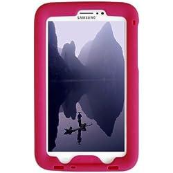 Bobj Etui en Silicone Robuste pour Tablette Samsung Galaxy Tab 3 7-inch, modeles WiFi, 3G/4G, l'edition de l'enfant Tab3. (non pour Tab3 Lite, Tab2) - BobjGear Housse de Protection (Framboise)