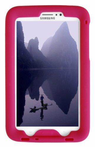 Samsung Case 4g Lite Tablet (Bobj Silikon-Hulle Heavy Duty Tasche fur Samsung Galaxy Tab 3 7-inch Tablet, WiFi und 3G 4G modelle. Auch für Tab3 Kinder Ausgabe. (Nicht fur Tab3 Lite, Tab2) - BobjGear Schutzhulle (Himbeere))