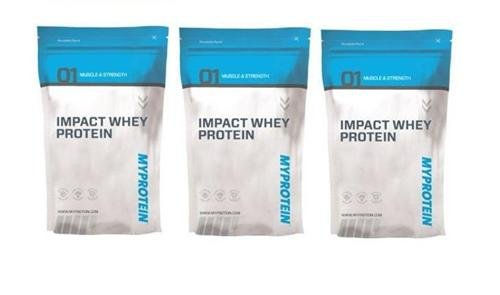 Myprotein Impact Whey Protein 3 x 1000g Beutel 3er Pack Cookies and...