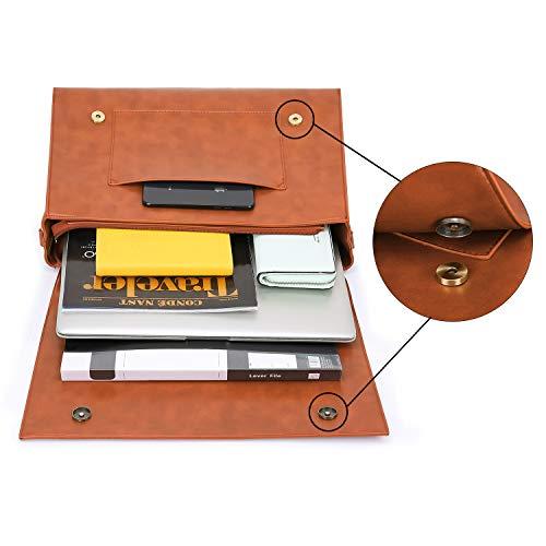 ECOSUSI Borsa a Tracolla Donna Borsa Messenger Vintage per Laptop 15.6 Pollici Valigetta da Ufficio