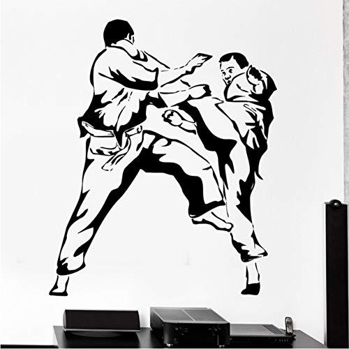 Tapete Karate Kampfkunst Vinyl Wandaufkleber Abziehbild Sport Poster Dekor Wohnzimmer Dekoration 45x60 cm (Sport-ornamente, Weihnachten)