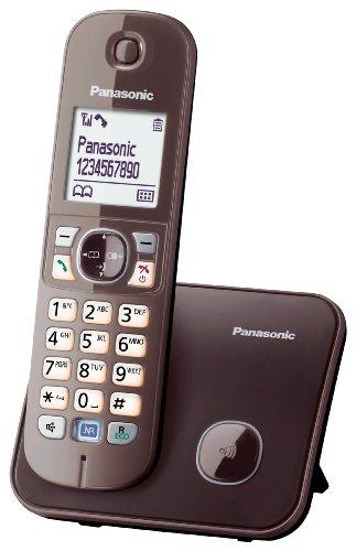 Panasonic KX-TG6811 DECT-Schnurlostelefon (4,6 cm (1,8 Zoll) Grafik-Display) mocca-braun